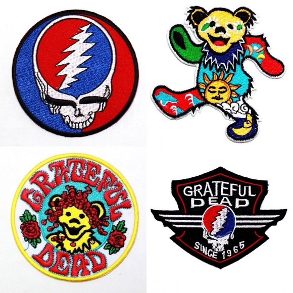 Accessories Grateful Dead Patches Iron On Patch Band Hippie Poshmark